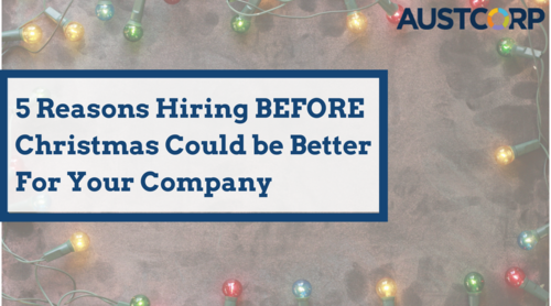 Hiring Before Christmas